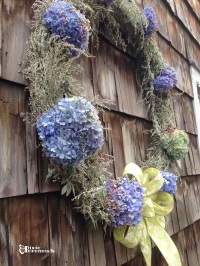 Fall wreath made from Artemisia ludoviciana and Hydrangea. pixieperennials.com