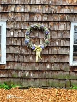 Completed Artemisia & Hydrangea wreath. pixieperennials.com